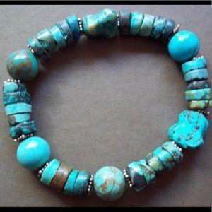 Silpada Rare B1301 Turquoise Stretch Bracelet